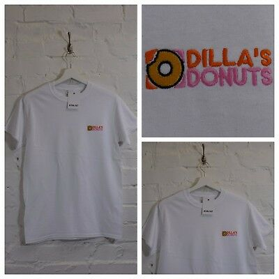 £20 • Buy Actual Fact Dillas Donuts Hip Hop J Dilla White Tee T-shirt