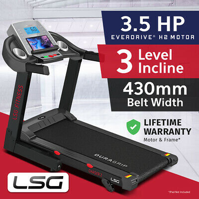 AU599 • Buy Lifespan LSG Series 430mm 3.5HP Belt Electric Treadmill Quiet EverDrive® Motor