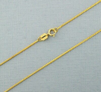£63.99 • Buy Solid 9ct Gold Spiga Chain 16 , 18 , 20  Inches Hallmarked!  New!