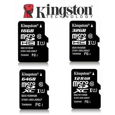 AU9.95 • Buy Micro SD Card 32G 64G 128G 16G Kingston Canvas Select Plus Class10 Memory 100Mbs