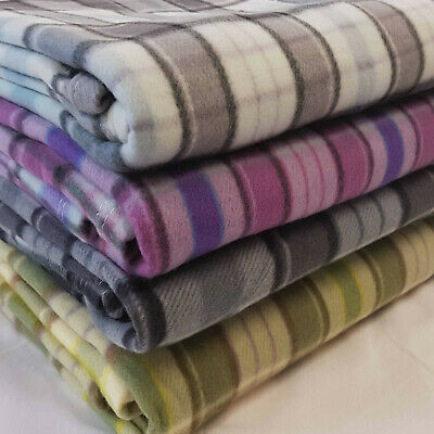 £7.50 • Buy Tartan Fleece Blanket Sofa Throw Bed Throwover Cover EXTRA Large Sizes In Stock