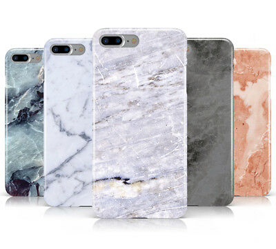 Faux Marble Effect Design Hard Mobile Phone Case Cover For Apple Iphone 8 Plus • 4.95£