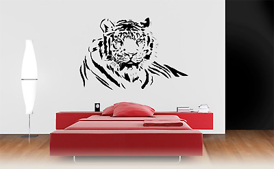 £8.99 • Buy Tiger Cat Animal Wall Art Sticker Decal Home Decor A8