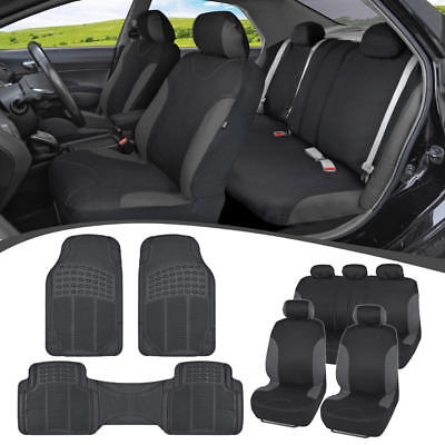 $39.50 • Buy Car SUV Seat Covers For Auto & Heavy Duty Rubber Floor Mats - Full Interior Set