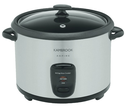 AU49 • Buy NEW Kambrook KRC350BSS 10 Cup Rice Cooker