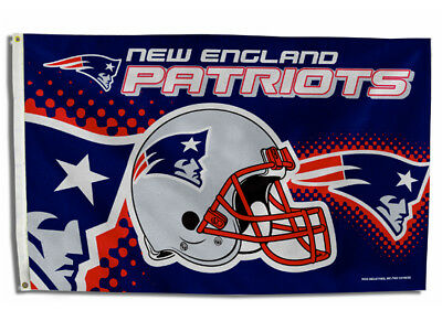 $11.94 • Buy New England Patriots Flag 3'x5' Nfl Helmet Banner: Free Shipping