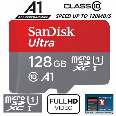 AU24.95 • Buy SD Card SanDisk 128GB Micro SDXC Class 10 Extreme Dash Camera Memory 120Mb/s New