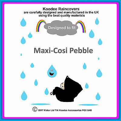 £9.99 • Buy RAINCOVER By Koodee Designed To Fit  Maxi Cosi Pebble  Car Seat Made In UK BNIP