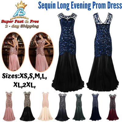 $71.66 • Buy Long Evening Prom Dresses 1920s Formal Women Wedding Ball Bridesmaid Full Gown