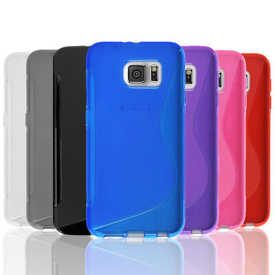 AU5.75 • Buy Slim Gel Case Tough TPU Hybrid Cover For Samsung Galaxy S5 S6 Edge S7 S8 Plus