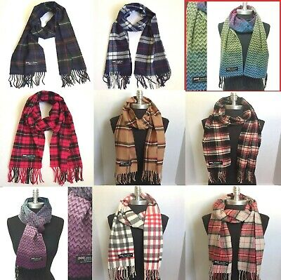 $8.99 • Buy Womens Mens Winter 100% Cashmere Plaid Solid Scarves Wool Scarf Scotland Made