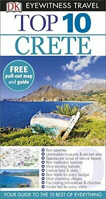 Top 10 Crete (DK Eyewitness Travel Guide) By DK Travel Book The Cheap Fast Free • 5.49£