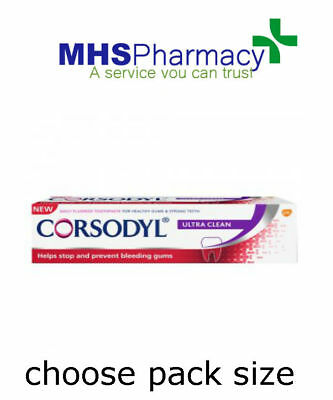 Corsodyl ® Daily (ULTRA CLEAN) Toothpaste 75ml HELP BLEEDING GUM, REMOVE PLAQUE • 23.49£