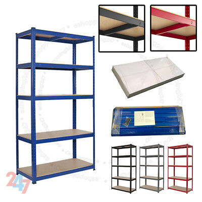 Heavy Duty Metal 5Tier Boltless Shelving Racking For Home Shop Warehouse Storage • 19.97£