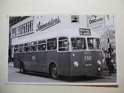 ENG562 - POTTERIES MOTOR TRACTION Co - BUS No SN8754 PHOTO • 4.99£