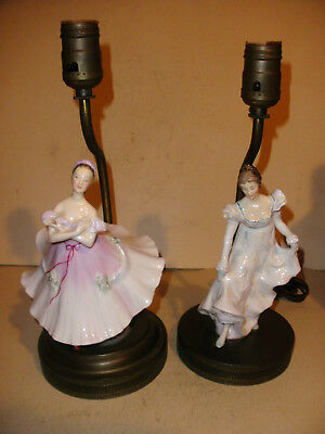$ CDN203.79 • Buy Lot Of 2 Vintage Royal Doulton Porcelain Lady Ballerina Dancer Table Lamp Lamps