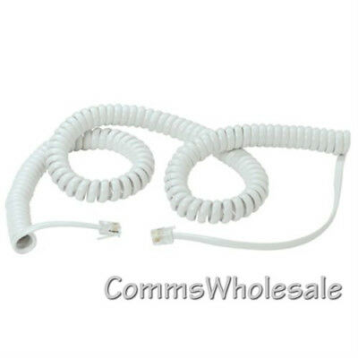 £2.45 • Buy 5m White Telephone Handset Curly Cord (90cm Approx Of Coiled Cord)