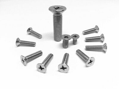 AU6.80 • Buy M3 M4 M5 M6 M8 Machine Screw Countersunk Flat Head Phillips A4 316  Marine Grade
