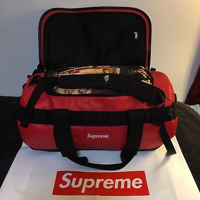 $ CDN643.57 • Buy Supreme The North Face Leather Base Camp Duffel (red) Fw17 Fw18 Cdg Box Logo