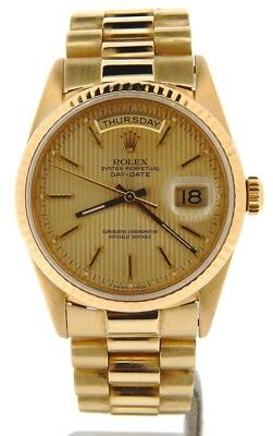 $ CDN20273.87 • Buy Mens Rolex Day-Date President Solid 18k Yellow Gold Watch Tapestry Dial 18238