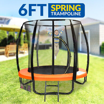 AU499 • Buy New 6ft Trampoline Free Ladder Spring Mat Net Safety Pad Cover Round Enclosure