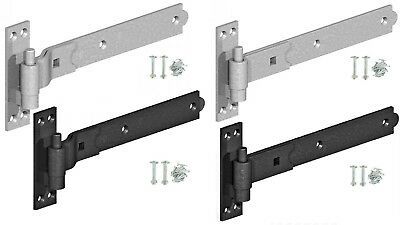 £10.49 • Buy Hook And Band Hinges Heavy Duty Gate Shed Stable Door Galvanised Or Black