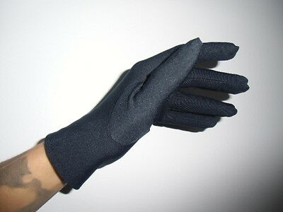 £9.74 • Buy Gloves Short Simple Black Satin Mats Pinup Retro One Size 6 7 8