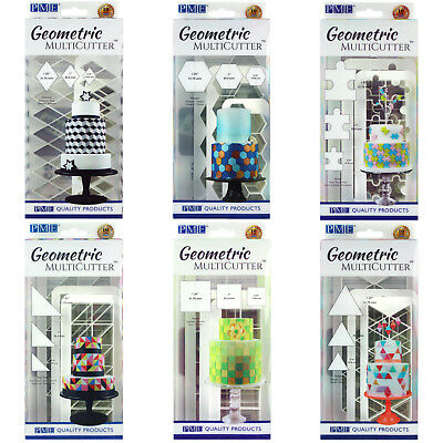 PME Geometric Multi Cutter Sugarcraft Cake Icing Decorating Design - 24 Options • 8.99£