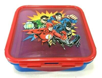 AU7.50 • Buy Marvels Justice League Kids School Sandwich Lunch Box Container 621ml