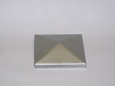 £3.50 • Buy 2 Metal Gatepost / Fence Post Cap 60 Mm X  60 Mm Square With 10mm Flange