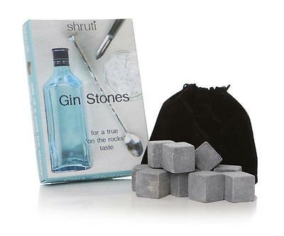 £9.99 • Buy 9 Pcs Gin Stones Chilling Rocks Ice Cubes Drinks Beverage Cooler Whiskey Scotch