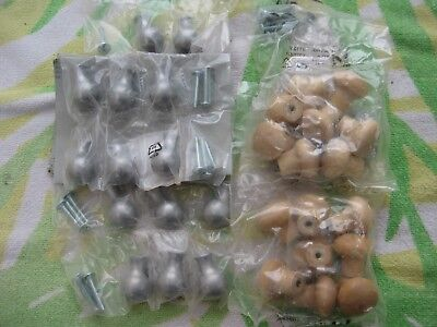 $16 • Buy Lot Of 14 Silver And 16 Wooden Knobs Drawer Pull