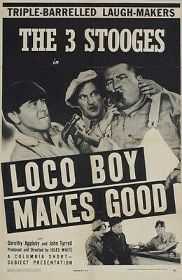 $ CDN5.29 • Buy LOCO BOY MAKES GOOD MOVIE POSTERS The Three Stooges - 3 - PRINT IMAGE PHOTO -PW0