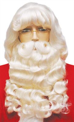 $140.68 • Buy Santa Set Supreme Wig & Wide Beard With Mustache Christmas Laceys Wigs 007EX