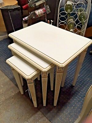 Nest Of 3 Coffee Tables / White / Medium / Ornate / Living Room • 45£