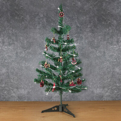 Artificial Indoor Christmas Tree With Baubles & Decorations 2ft Small Table Top • 9.99£