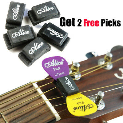 $ CDN8.64 • Buy 5Pcs Alice Guitar Picks Plectrum Holder Case Rubber Headstock + 2 Free Picks