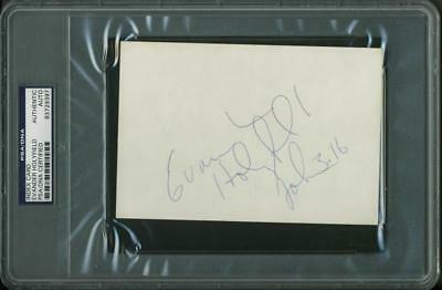 £138.98 • Buy Evander Holyfield Boxing Authentic Signed 4X6 Index Card PSA/DNA Slabbed 3