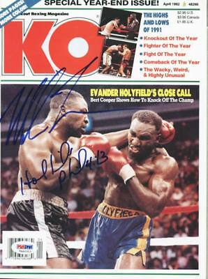 £219.45 • Buy Mike Tyson & Evander Holyfield Boxing Authentic Signed Ko Magazine PSA #5A46313