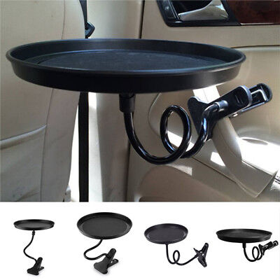$17 • Buy Black Plastic Car Swivel Mount Holder Cup Drink Food Tray Table Stand Bracket