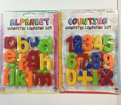 £3.99 • Buy Magnetic Letters And Numbers Fridge Magnets  Kids Baby Alphabet AND NUMBERS