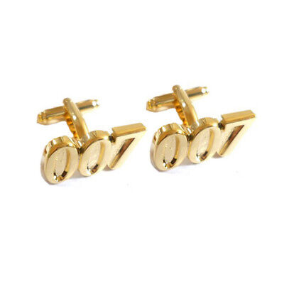 Stylish Men's Women's 007 Gold Cufflinks For Wedding • 4.99£