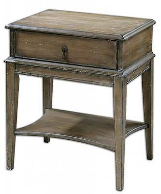 $396 • Buy Cottage WEATHERED PINE Accent Table Drawer Rustic Antique Bedside Side End Wood