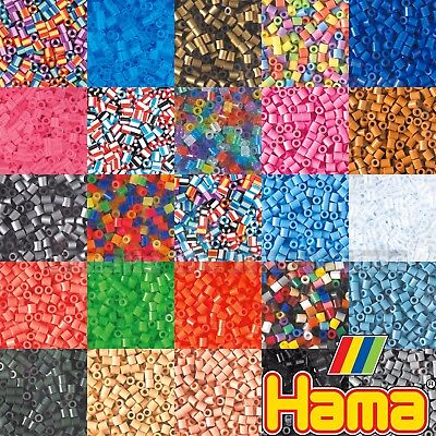 Hama Beads 1000 Pieces - 68 Colours Childrens Boys & Girls Kids Craft Supplies  • 2.39£