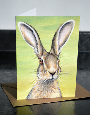 £2.70 • Buy Brand New Hare Greeting Card By Artist Sarah Featherstone, Any Occasion, Sealed