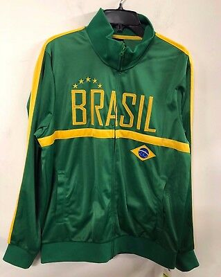 69171c950 NWT Men FIFA World Cup Soccer BRAZIL National Team Track Jacket XL • 19.99$