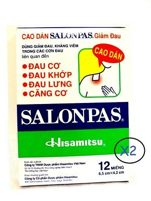 AU9.88 • Buy SALONPAS 24 Pain Relieving Patches Arthritis Muscle Pain Relief SUPER FAST SHIP