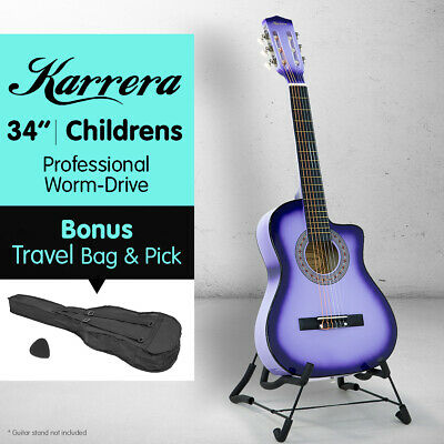 AU59 • Buy NEW PURPLE CHILDRENS ACOUSTIC GUITAR IDEAL KIDS GIFT 1/2 Size