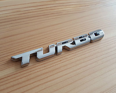 £5.10 • Buy Silver Chrome 3D Metal TURBO Badge Sticker For Vauxhall Astra Corsa Insignia VXR