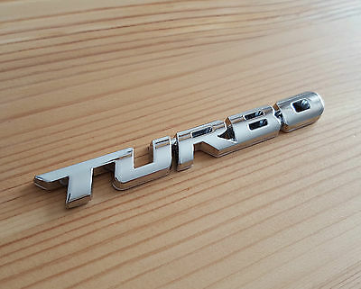 Silver Chrome 3D Metal TURBO Badge Sticker For Porsche Cayenne Cayman Macan 928 • 4.95£